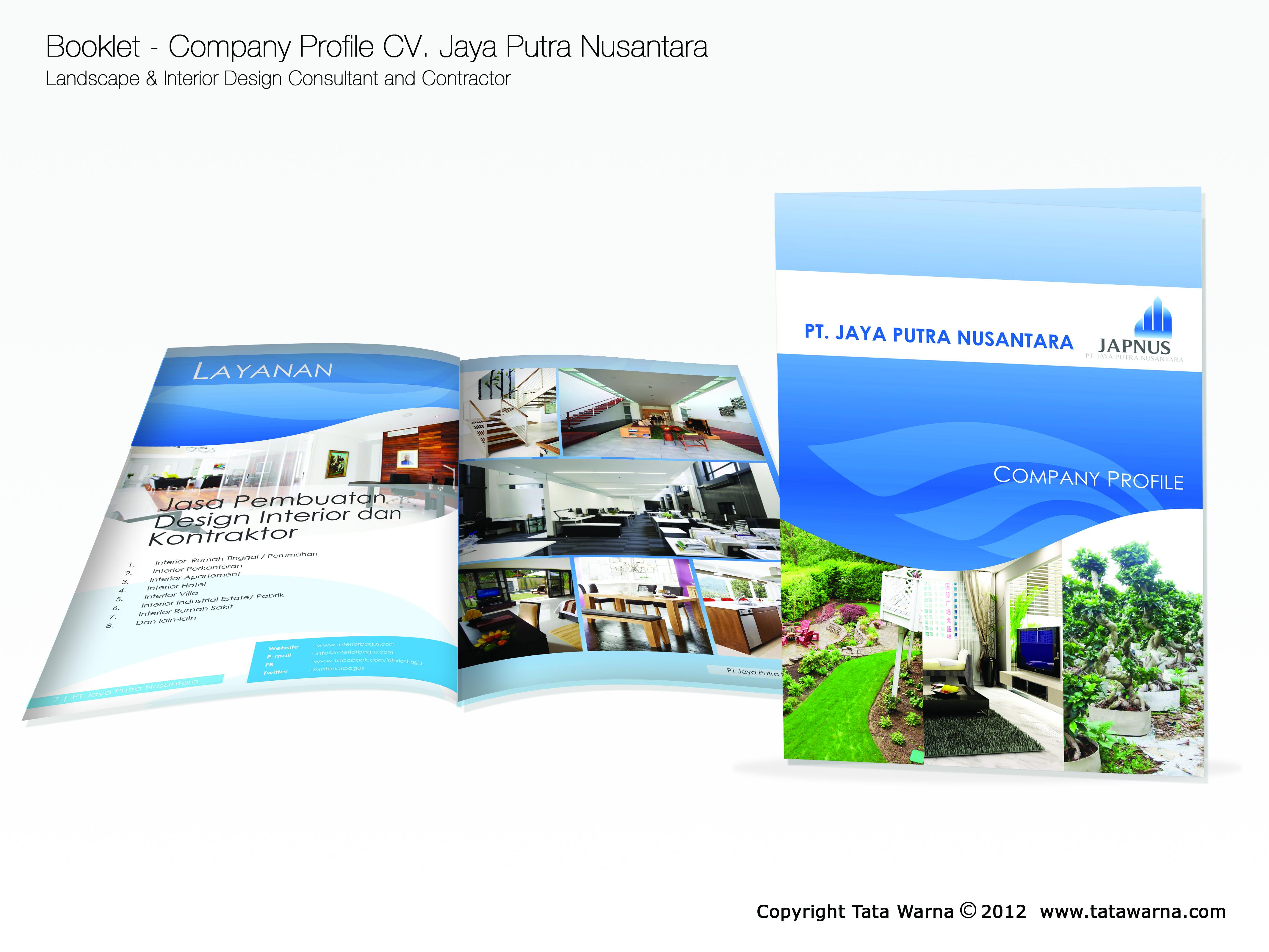 Contoh desain company profile perusahaan bidang landscape for Design consultancy company profile